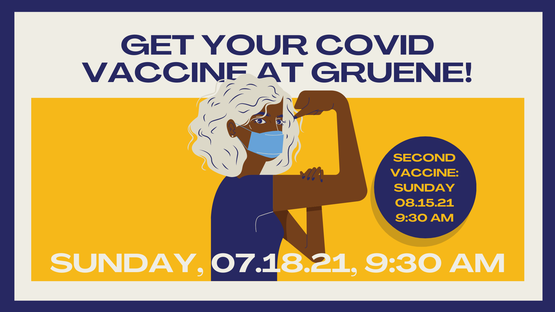 Get your COVID Vaccine at Gruene!