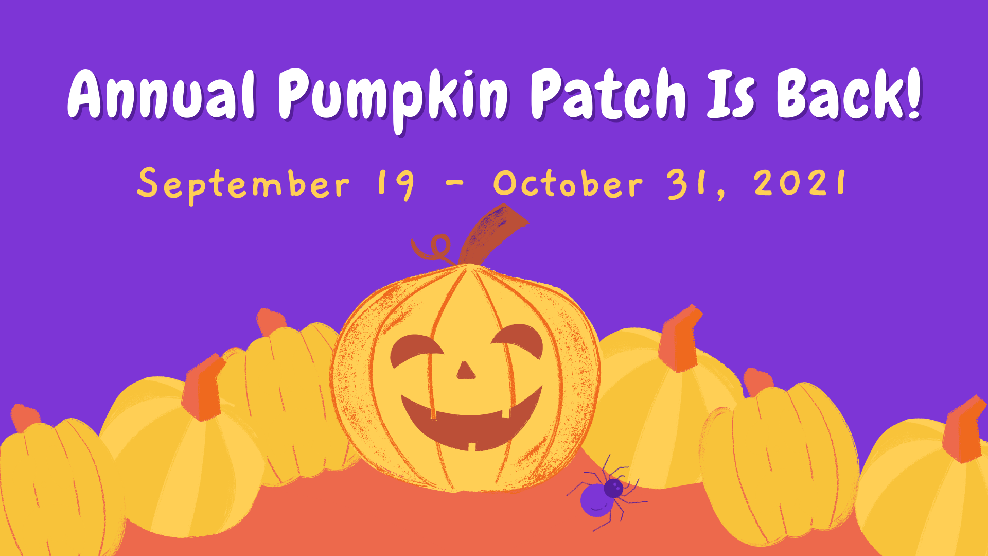 Annual Pumpkin Patch Is Back!